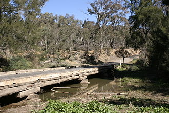 Goulburn-Oberon Road - Goulburn-Oberon Road bridge over Abercrombie River (photographed prior to 2008).