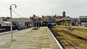 Aberystwyth railway station - Platform view in 1992