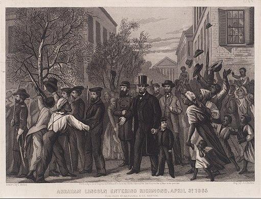 Abraham Lincoln Entering Richmond (April 1865)