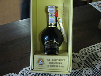Must - Bottle of traditional balsamico from Modena, Italy, containing grape must