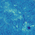 Active region in the chromosphere - H I 6563 Å.png