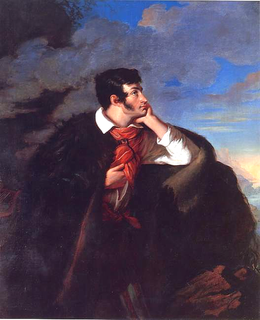 <i>Portrait of Adam Mickiewicz on the Ayu-Dag Cliff</i> painting by Walenty Wańkowicz