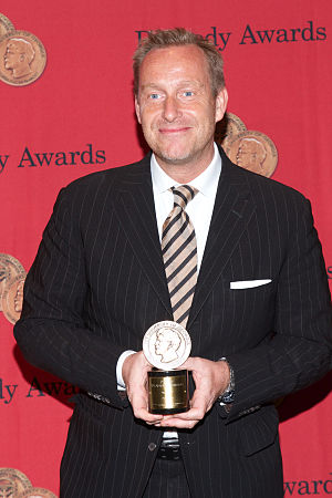 Borgen (TV series) - Adam Price with Peabody for Borgen at the 73rd Annual Peabody Awards