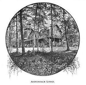 Adirondack Mountain Club - Henry Van Hoevenberg's original Adirondack Loj, that burned in 1903