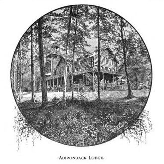 Adirondak Loj - Van Hoevenberg's original Lodge that burned in 1903