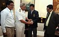 Admiral Nirmal Verma, Chief of Naval Staff felicitates Shri Aman Vyas, a young promising Yatchman at New Delhi.jpg