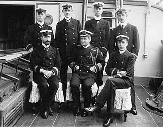 Cyprian Bridge - Admiral Sir Cyprian Bridge, Commander-in-Chief, China Station, with staff in 1902