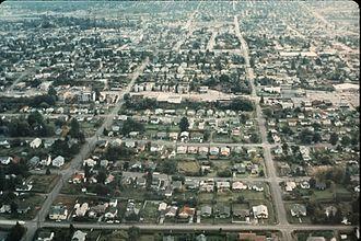 Greenwood, Seattle - Aerial view of Greenwood, 1969