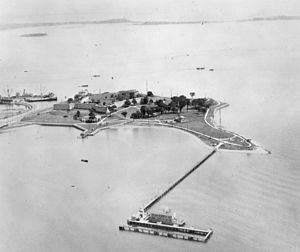 Castle Island (Massachusetts) - Castle Island during World War II.