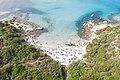 Aerial view of the Tower of Porto Giunco Beach (Spiaggia Torre Porto Giunco) in Sardinia, Italy (48402564276).jpg