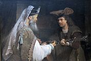 Aert de Gelder - Ahimelech Giving the Sword of Goliath to David - WGA8522.jpg