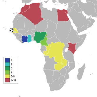 1992 African Cup of Nations - Participating nations
