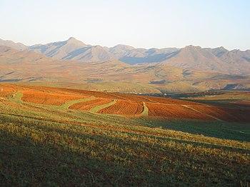 African landscape: Lesotho