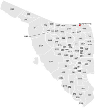 Agua Prieta - Location of Agua Prieta within Sonora