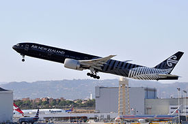 Air New Zealand, Boeing 777-319(ER), ZK-OKQ - LAX (22004717612).jpg