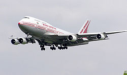 Air India Boeing 747-400. The Government of India is the majority stake-holder in Air India and Indian Airlines.