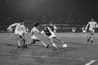 Notable Spurs players of the early 1980s include Steve Perryman, Osvaldo Ardiles, and Glenn Hoddle. Ajax vs Spurs 1981. Ajax vs Spurs 1981 European Cup Winners' Cup.jpg