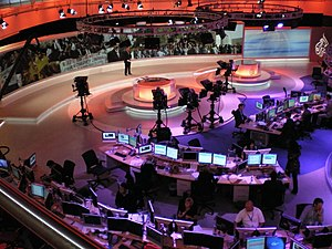 News - Al Jazeera English newsroom, Doha, 2008