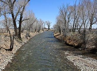 Alamosa River - The river at Capulin.