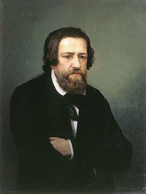 Alexander Andreyevich Ivanov - Portrait of Alexander Andreyevich Ivanov by Sergey Petrovich Postnikov (1838-1880)