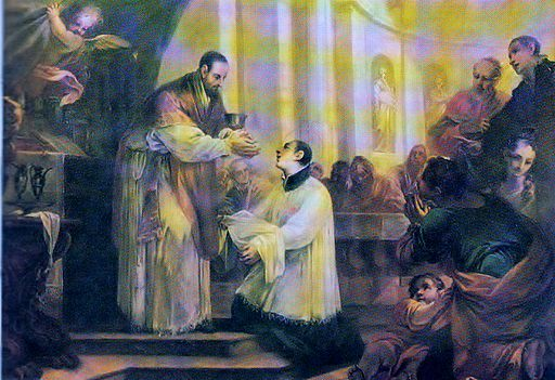 Alexander Sauli receives the Holy Communion during his Religious Profession from the hands of Superior General Fr. Besozzi