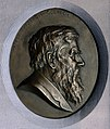 Alfred Russel Wallace. Plaster relief by A. Bruce-Joy. Wellcome V0018090.jpg