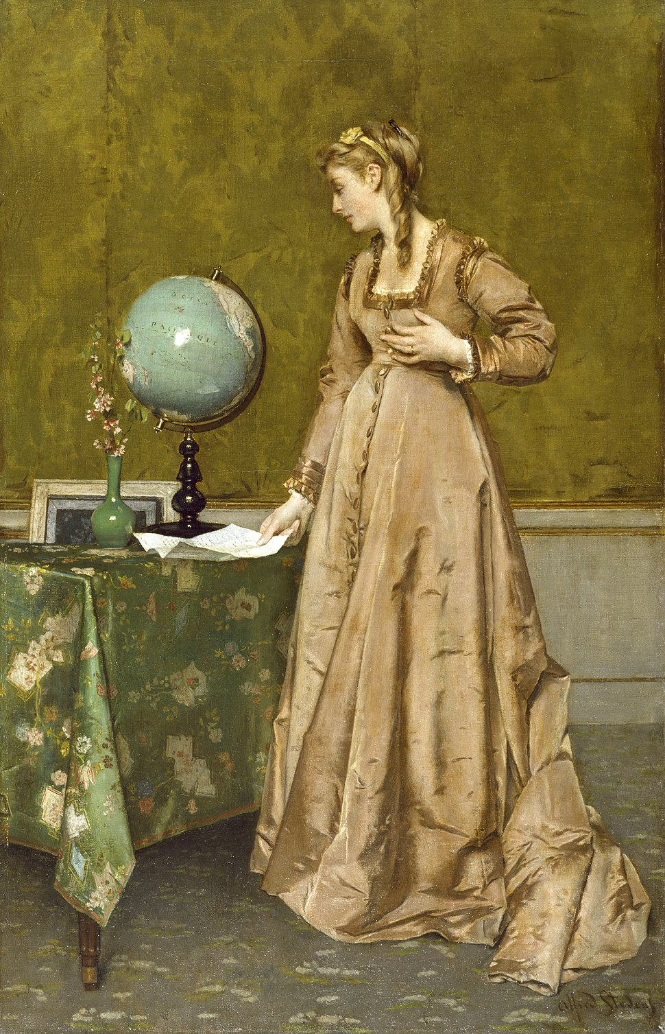 Alfred Stevens - News from Afar - Walters 37183