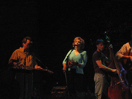 Krauss with her band Union Station Alison Krauss at Rockygrass 2005.jpg