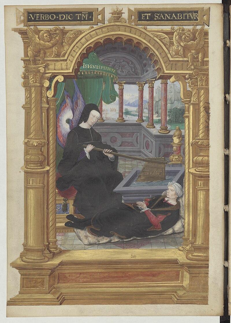 Allégorie de la régence de Louise de Savoie - Gestes de Blanche de Castille BNF Fr5715.jpg