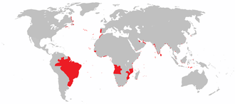 Colonial empire - Image: All areas of the world that were once part of the Portuguese Empire