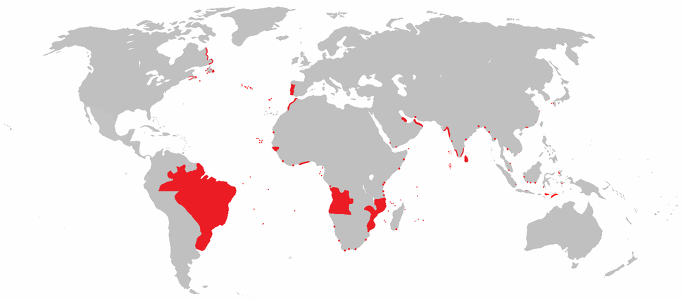 All areas of the world that were once part of the Portuguese Empire