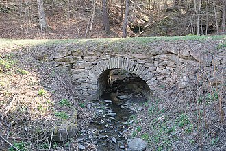 National Register of Historic Places listings in Greene County, New York - Image: Allan Teator Road Stone Arch Bridge 4 23 2016