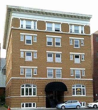National Register of Historic Places listings in Berkshire County, Massachusetts - Image: Allen Hotel in Pittsfield, Berkshire County