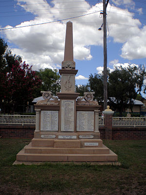 Allora, Queensland - Allora Great War memorial, 2010