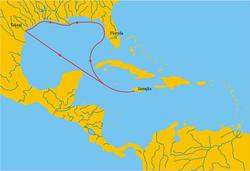 Exploradores, aventureros, viajeros... - Página 2 250px-Alonso_de_Pineda-mapa_ekspedycji