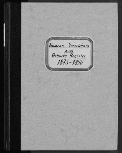 File:Alphabetisches Namensverzeichnis zum Geburtsregister des Standesamtes Minden, 1875 bis 1890.djvu