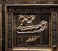 Altare di s. ambrogio, 824-859 ca., retro di vuolvino, storie di sant'ambrogio 09 apparizione dell'angelo a s. ambrogio (viatico del vescovo onorato).jpg