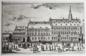 Hamburg Rathaus - Image: Altes Rathaus um 1700