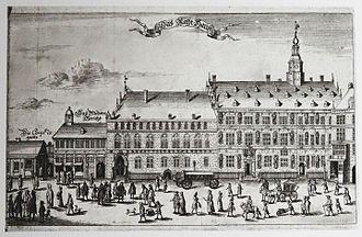 Hamburg City Hall - Image: Altes Rathaus um 1700