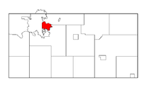 Location of Altoona within Eau Claire County