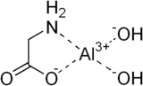 Skeletal formula of aluminium glycinate