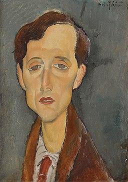 Amedeo Modigliani - Portrait of Frans Hellens