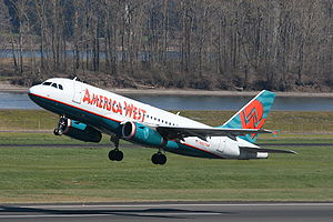 America West Airlines Flight 556 - Image: America West A319