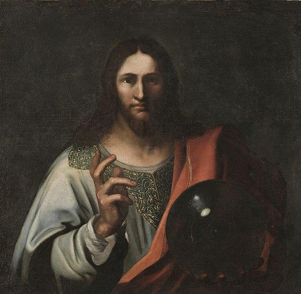 Leonardo Da Vinci Salvator Mundi Wikipedia >> File:Anônimo - Cristo com esfera.jpg - Wikimedia Commons