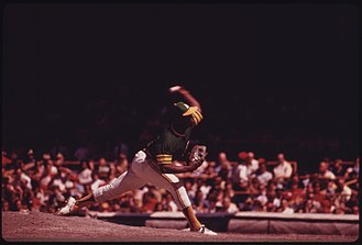 Vida Blue - Vida Blue pitches for the Oakland A's