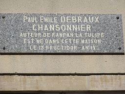 Ancerville (Meuse) maison natale Paul Emile Debraux, plaque