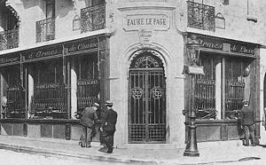 Rue de Richelieu - The old Fauré Le Page store is located at 8, rue de Richelieu in Paris