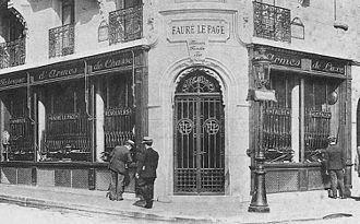 Rue de Richelieu - The old Fauré Le Page store is located at 8, rue de Richelieu in Paris