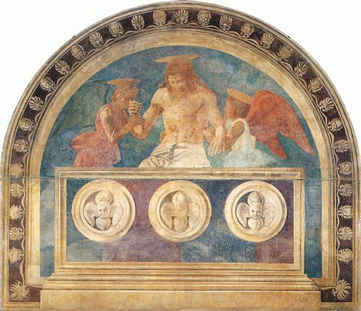 Andrea del castagno, Christ in the Sepulchre with Two Angels by Andrea del Castagno 01