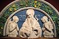 Andrea della robbia, s. antonio abate e due angeli oranti, 1492-95 ca., da oratorio di s. antonio abate, 02.jpg